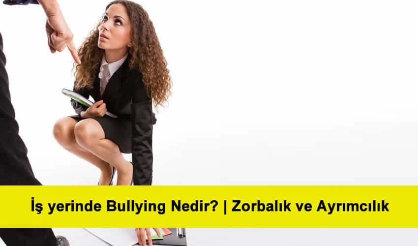İş yerinde Bullying Nedir İş yerinde Zorbalık ve Ayrımcılık